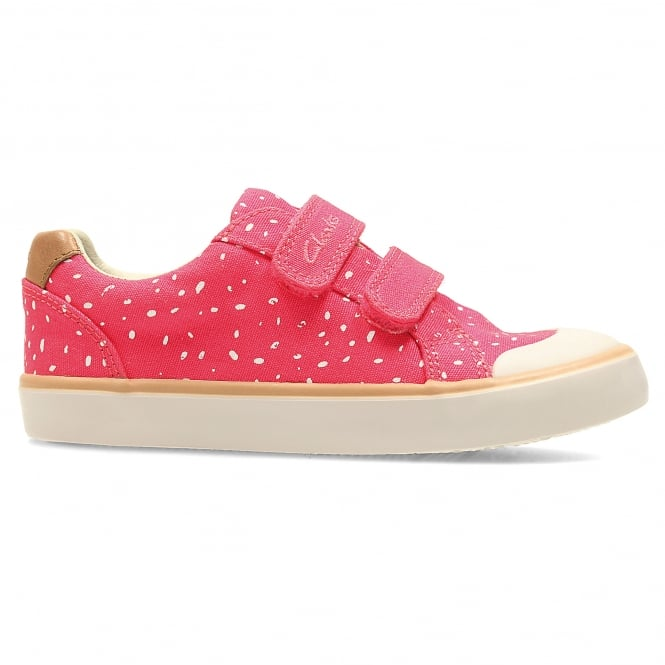 Clarks COMIC COOL INFANT GIRLS CANVAS SHOE