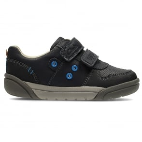 REFLECT SPY BOYS CLARKS LEATHER CASUAL RIPTAPE SPORTS SHOES OUTDOOR TRAINERS