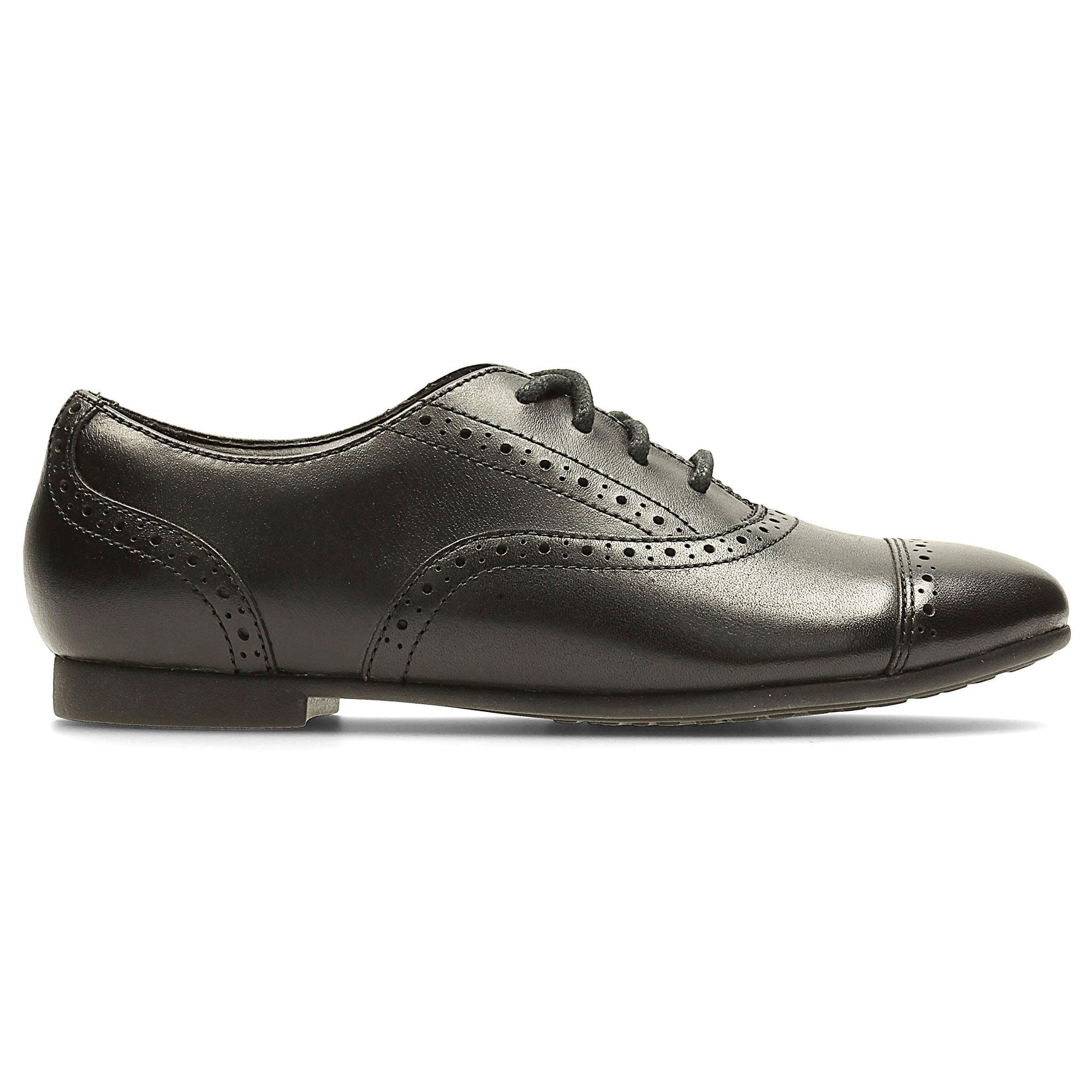 Girls School Shoes Clarks SelseyCool Jnr Girls Black School Shoe