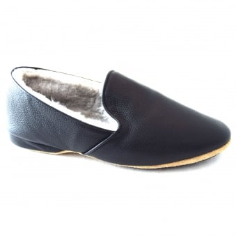 ALBERT MENS SHEEPSKIN LINED TRADITIONAL SLIPPER