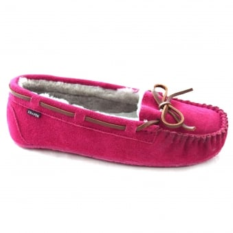 DAISY LADIES MOCCASIN STYLE SLIPPER