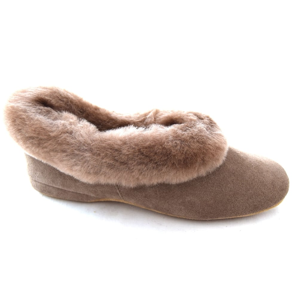0d482350bd3c Draper JANE LADIES SUEDE SHEEPSKIN COLLAR SLIPPER - Womens Footwear ...