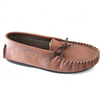MICHAEL MENS MOCCASIN STYLE SLIPPERS