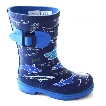 BOYS SHARK PRINTED WELLIES
