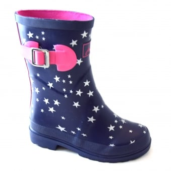 NAVY STAR GIRLS WELLIES