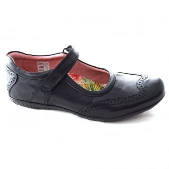 EXPO GIRLS VELCRO STRAP SCHOOL SHOE