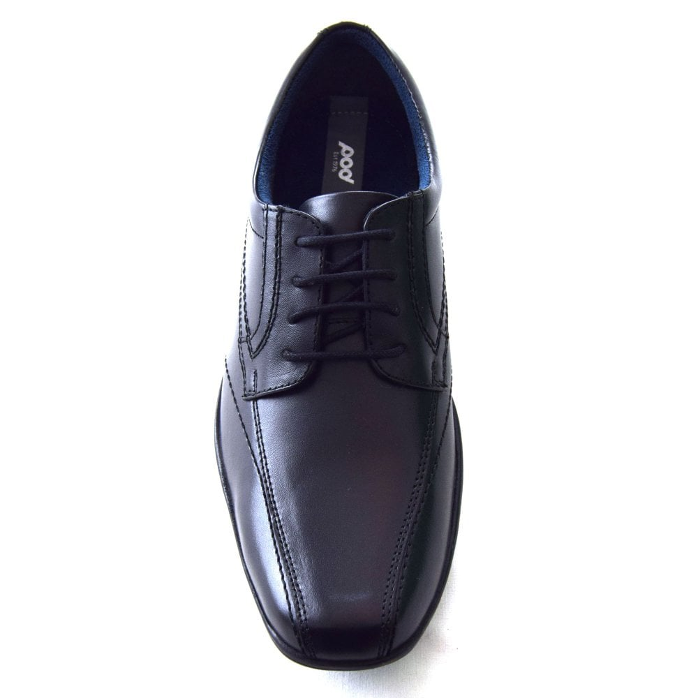 Pod Angus Black Leather Boys Lace Up School Shoes