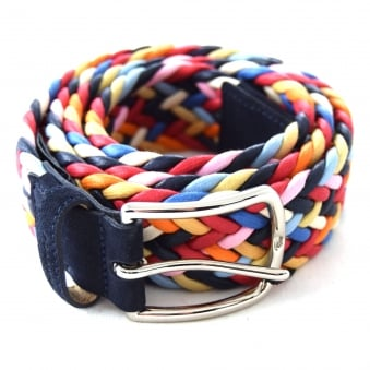 10057 MEN'S MULTI-COLOURED WEAVED BELT