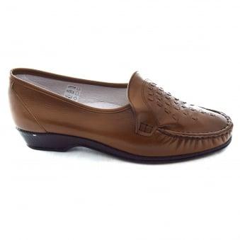 PAULA LADIES SLIP ON MOCCASIN STYLE SHOE