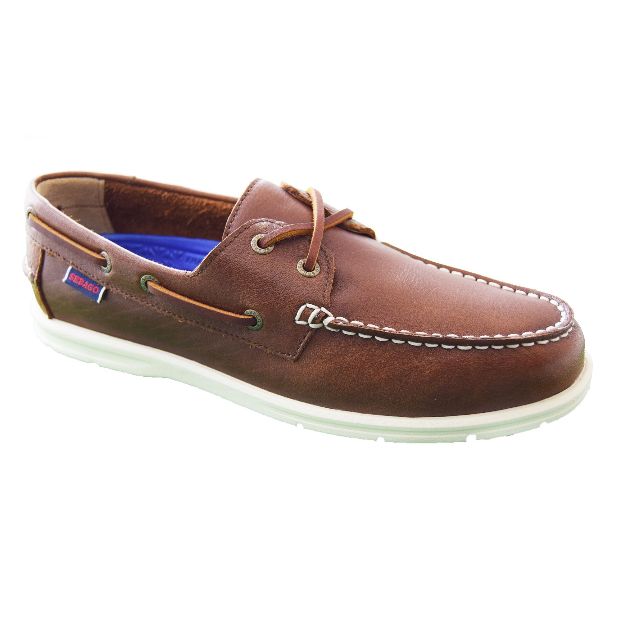 Sebago LITESIDES Ladies Womens Leather Casual Two Eyelet Casual Deck Boat Shoes