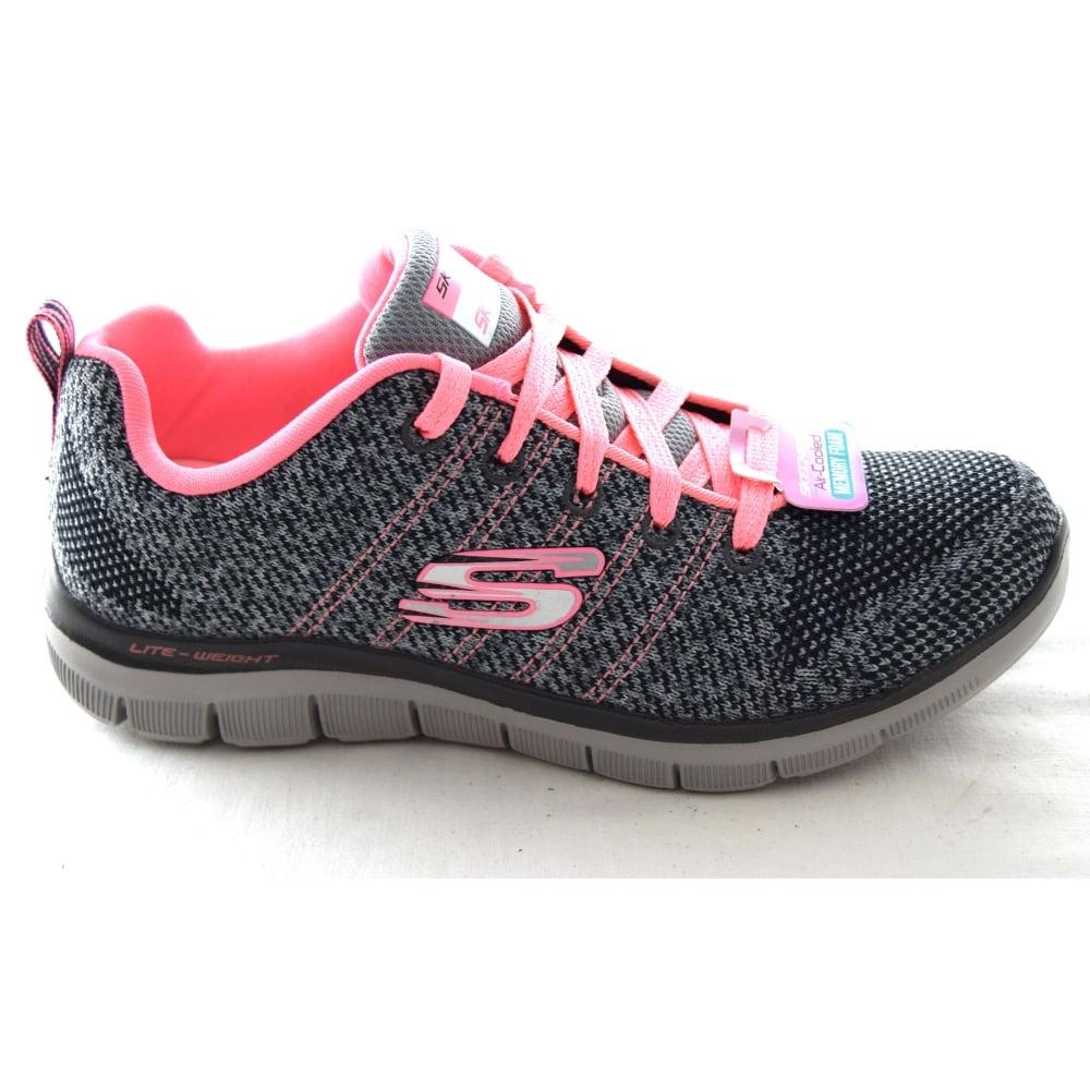 Skechers FLEX APPEAL 2.0 HIGH ENERGY GIRLS TRAINER - Girls Footwear ... 65836f9da9
