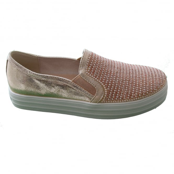 Pertenecer a Delegación Similar  Skechers SHINY DANCER LADIES SLIP-ON CASUAL SHOE - Womens Footwear from WJ  French and Son UK
