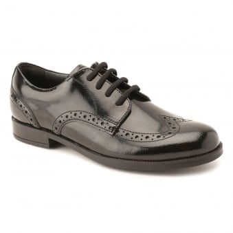 BROGUE SNR GIRLS' LACE UP SCHOOL SHOE
