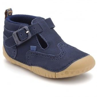 HARRY BOYS BUCKLE T-BAR PRE-WALKER SHOE