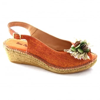 RUANA LADIES ESPADRILLE WEDGE SANDAL