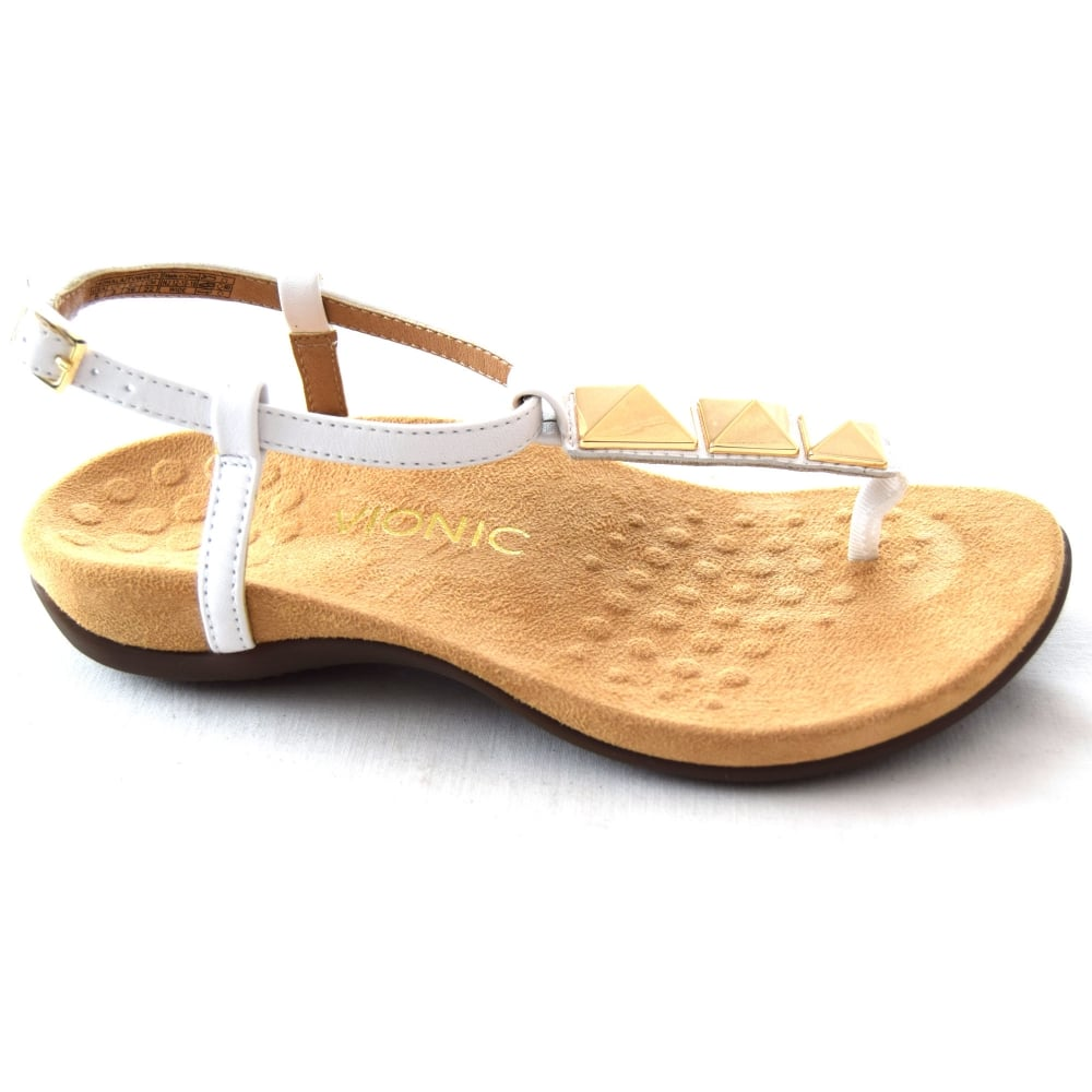 Vionic Toe Post Sandal With Beads 5 Gold HkD3Eqb