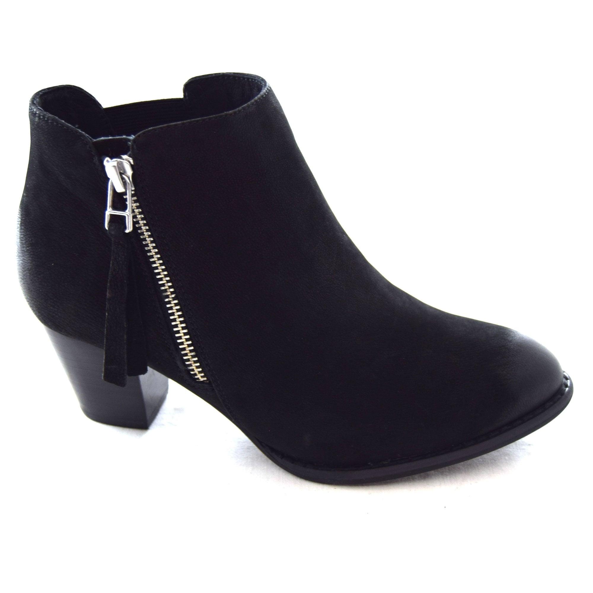 ladies small heel boots